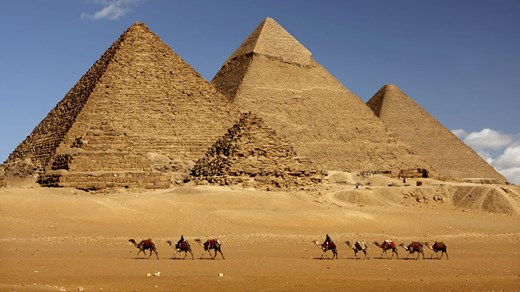 De wereldberoemde piramides in Egypte