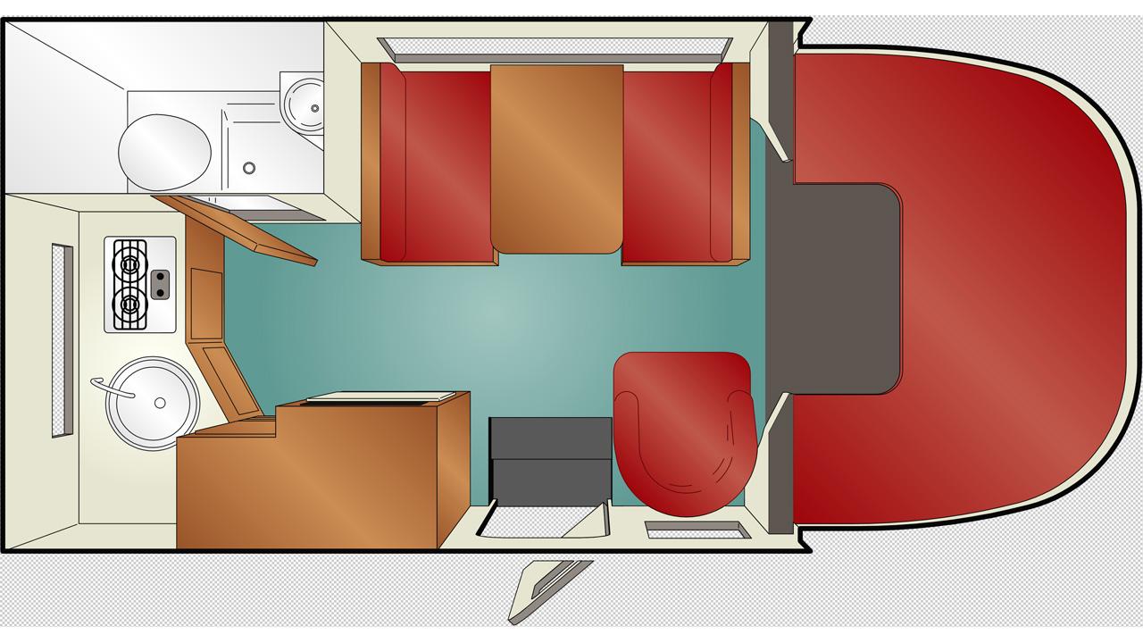 C 19 camper huur een motorhome in de vs en canada kilroy - Badkamer lengte plan ...