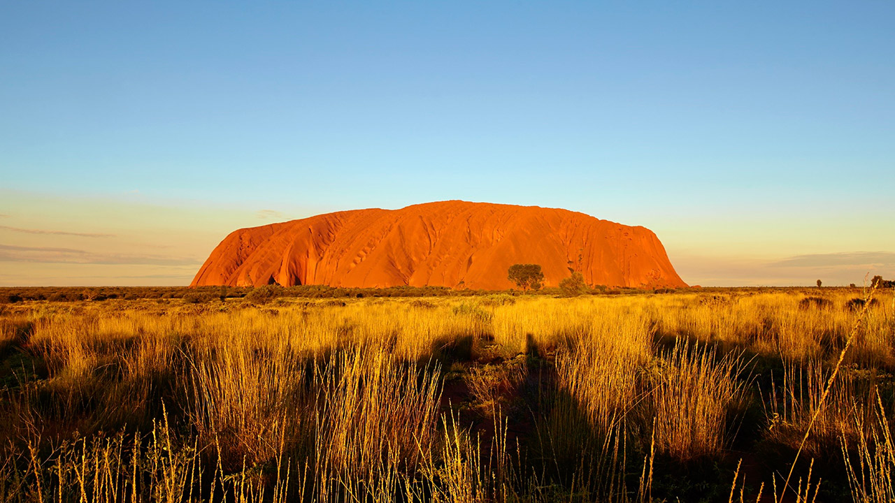 Ayers Rock in Australië - Backpacken in Australië